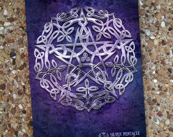 Silver Pentacle Blank Book Journal