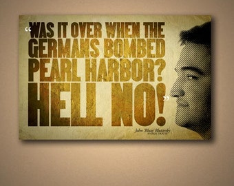 "Animal House BLUTO ""HELL NO!"" Quote Poster"