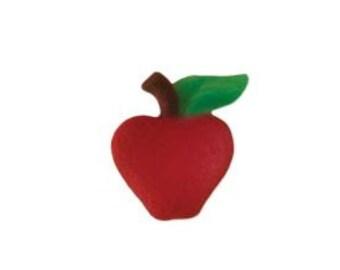 Apple Edible Sugar Dec-Ons-Package of 12 Apple shaped sugar Dec-Ons.