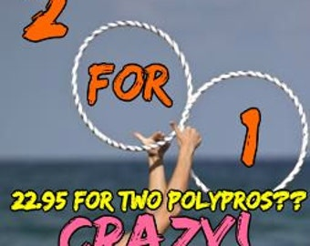 2 for 1 SPECIAL PolyPro or HDPE Hula Hoop made your way by Colorado Hula Hoops!