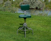 Mid Century Industrial Drafting Architect Stool Chair All Original