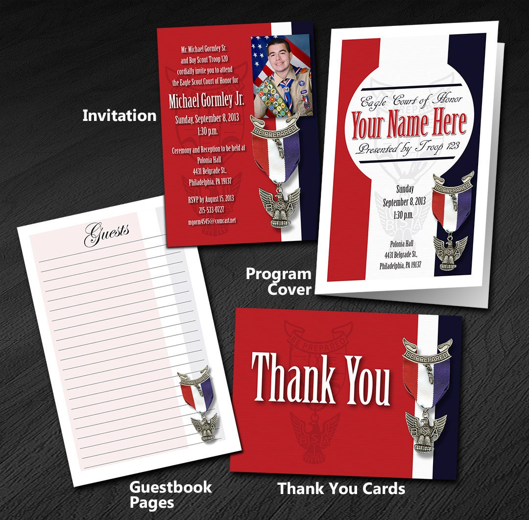 Eagle Scout Court of Honor Program Cover