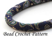 "Pattern for bead crochet necklace ""Paisley design25"""