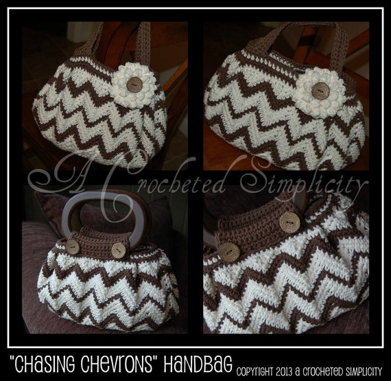 Free Crochet Chevron Purse Pattern : Crochet Pattern: Chasing Chevrons Handbag / Purse