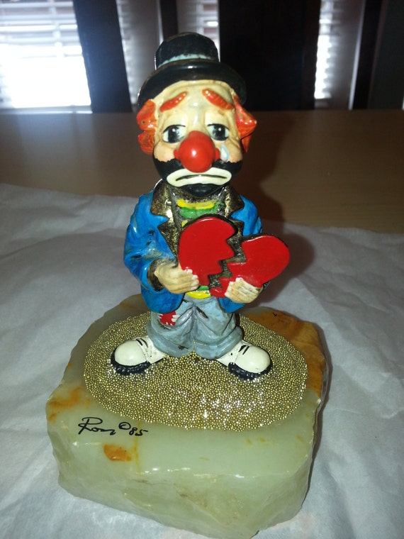 Ron Lee Clown with Broken Heart by MaddysPrettyThings on Etsy