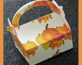 Pumpkin favor box, Halloween candy box, fall favor box , Pumpkin party favor, Fall home decor