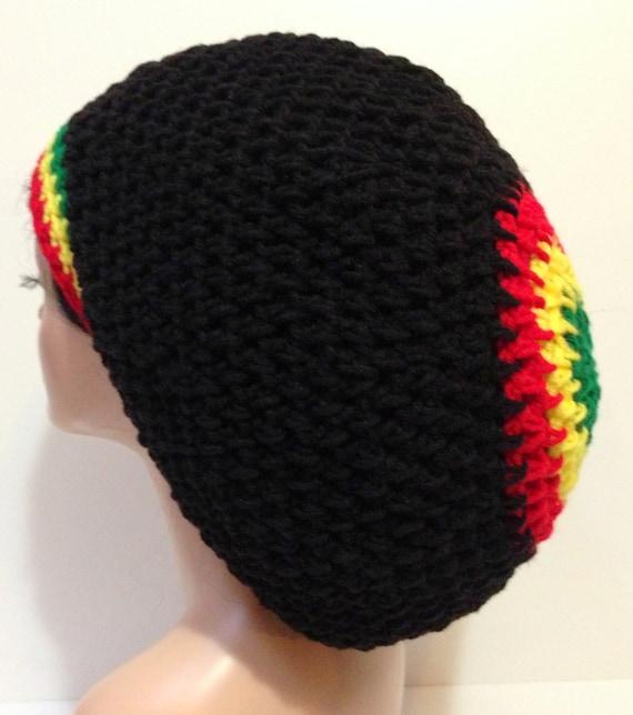 Snap Crochet Rasta Hat Rasta Beanie Rasta Tam Rasta Beanie Hat
