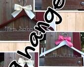 NINE  wedding hangers / SHIPS From USA / Personalized Wedding Hanger / Brides Hanger