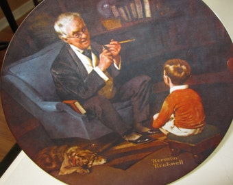 Norman Rockwell limited edition of The Tycoon