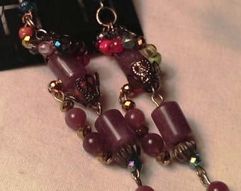 Purple Quartz Earrings