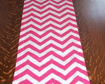 Pink Runner,Table Runner,Table Cloth, Premier Fabric, Candy Pink, Hot Pink, Zig Zag, Pink Chevron, Chevron, Wedding, Baby Shower, Birthday