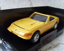 Ferrari 1969 365 GTS4 New Vintage Yellow Car Model Made in 1990s