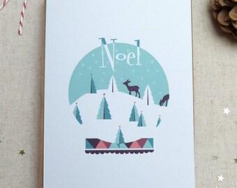 Christmas card - Noel-pack of 10
