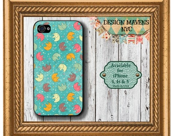 Elephants iPhone Case, Cute Phone Case, Plastic iPhone Cover, iPhone 4, 4s, iPhone 5, 5s, 5c, iPhone 6, 6  Plus, iPhone Cover, iPhone Case