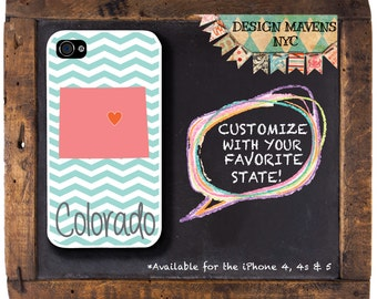 Personalized iPhone Case, State Love Colorado iPhone Case, iPhone 4, iPhone 4s, iPhone 5, iPhone 5s,  iPhone 5c, iPhone 6, Phone Cover