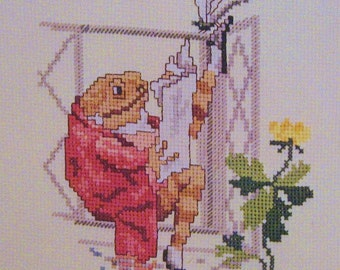 cross stitch beatrix potter mr jeremy fisher  CHART INSTRUCTIONS ONLY lakeland artist new