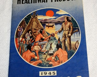 Illinois Herb co. Healthway Products 1945 Almanac Including Order Blank and Envelope! Rare!