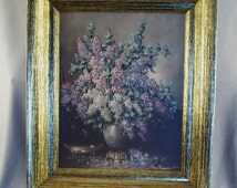 Picture Frame  for New Paintings // Pictures // Craft Supply // Re-Purposing // Golden Antiqued Look