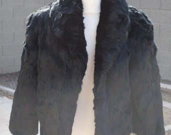 Vintage 100% Rabbit Fur Jacket