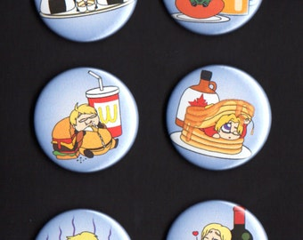 Hetalia Button Set