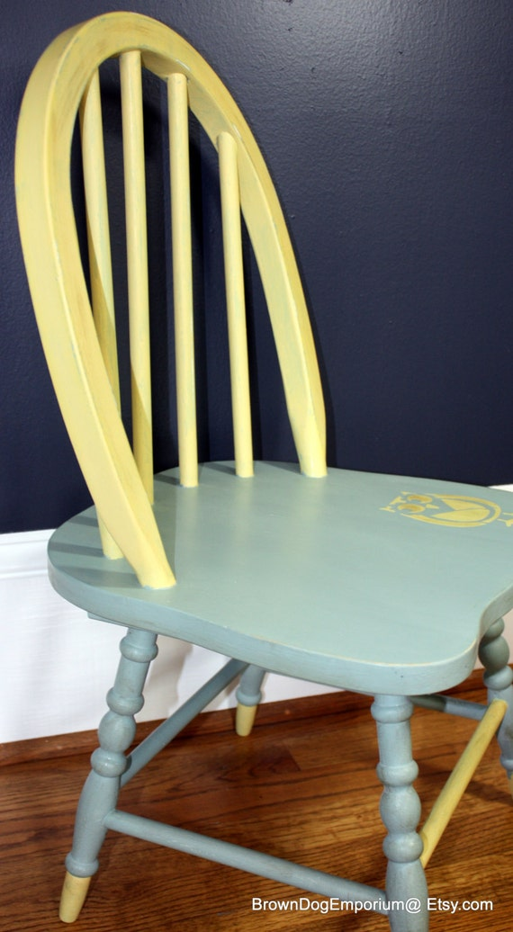 Painted Child 39 S Chair Duck Egg Blue And By Browndogemporium