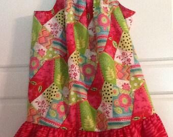 Size 4/6 Colorful Pillowcase Dress