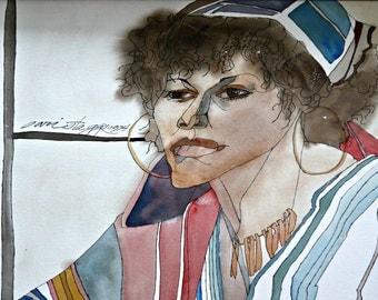 Original Watercolor by Sari Staggs 1974