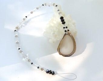 Agate Suncatcher, Gift for Him, Fathers Day Gift, Crystal Prism, Sun Catcher, Swarovski Crystal Suncatcher. A70