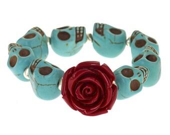 Sugar Skulls Bracelet (Red)