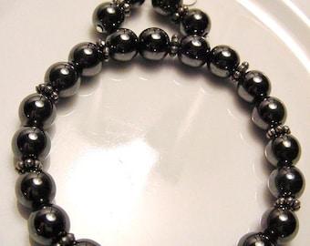 SALE!! Hematite Bracelet, Earrings Set, Protection, Healing, Courage, Dissolves Negative Energy, Base Chakra, Free Shipping