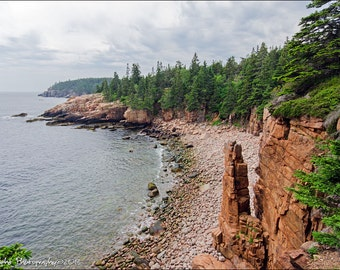 Monument Cove Acadia National Park Maine Landscape Fine Art Print