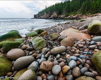 Boulder Beach Acadia National Park Maine Landscape Fine Art Print