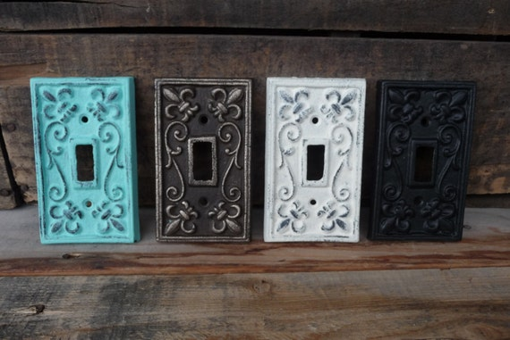 Vintage style cast iron metal switch plate switchplate cover