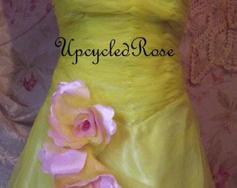CLEARANCE Shondra's Sunshine Vintage Bridesmaid's Gown Bohemian Gypsy Chic