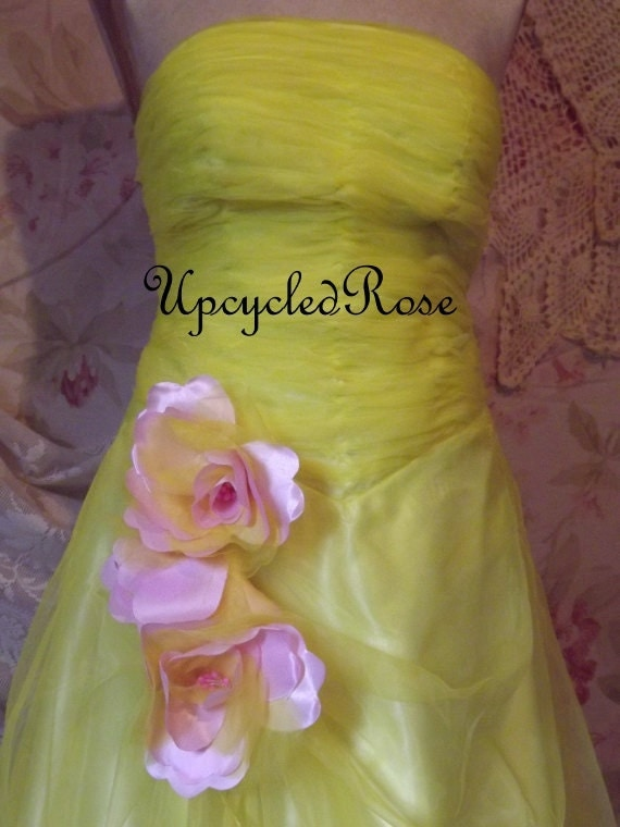 Shondra's Sunshine Vintage Bridesmaid's Gown Bohemian Gypsy Chic