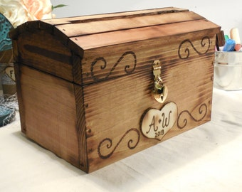 Wedding Card Box - Rustic Wooden Card Box - Rustic Wedding Card Box - Rustic Weddings - Advice Box - Wishing Well - Card Box - Wedding Gift