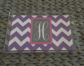 Lucite Tray { With Single Letter Monogram}