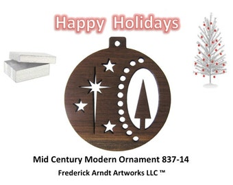 837-14 Mid Century Modern Christmas Ornament