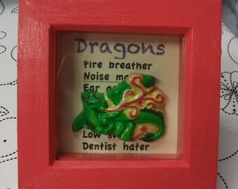 Dragon Shadowbox Frame with Handmade Plaque