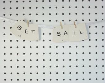 Set Sail - Vintage Alphabet Card Words