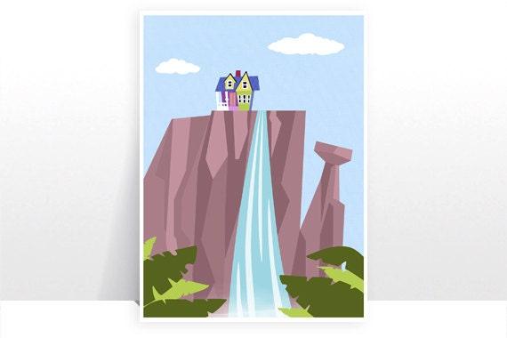 Paradise Falls up Drawing Disney Pixar up Paradise Falls