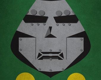 Dr Doom Minimalism Print