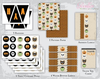 Halloween Heads Printable Party Package
