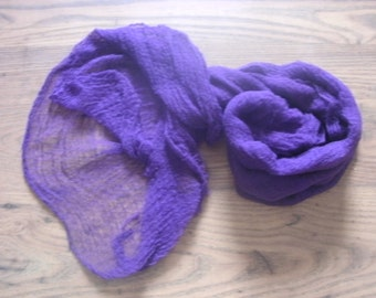 Hand dyed Cheese Cloth Baby Wrap, Photography Prop