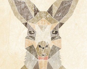 KANGAROON  Limited Edition Print  A3 (11.7 X 16.5)  with border