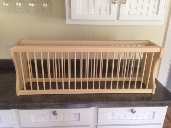 items similar to cabinet 22 plate rack on etsy