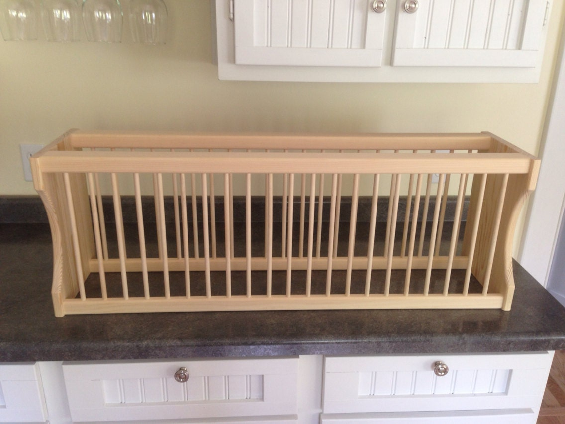 Items Similar To Under Cabinet 22 Plate Rack On Etsy