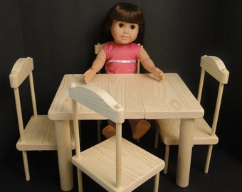 Table/Chair Set for 18 inch Dolls (0114)