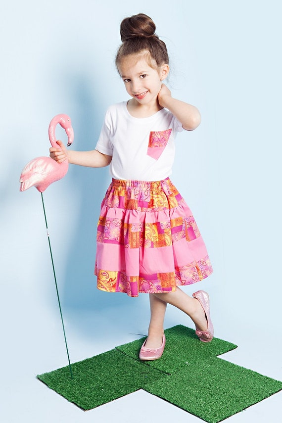 Mini Souls Flamingo Pink Skirt/Top Set