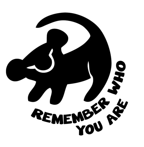 Lion King Remember Who You Are Decal Sticker by stickEdecals